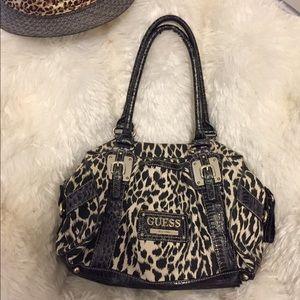 Guess leopard purse